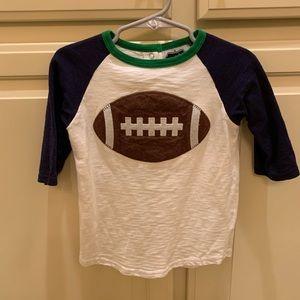 Mud Pie boys football shirt size 4T - 5T